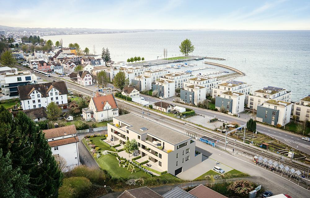 Luftbilder Staad, Schweiz